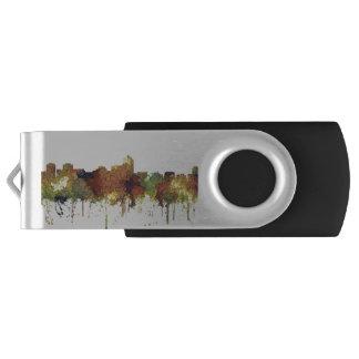 Albuquerque, NM Skyline - SG - Safari Buff USB Flash Drive