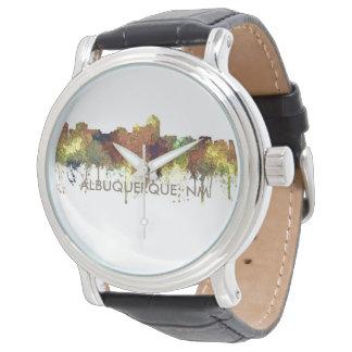 Albuquerque, NM Skyline - SG - Safari Buff Wristwatches