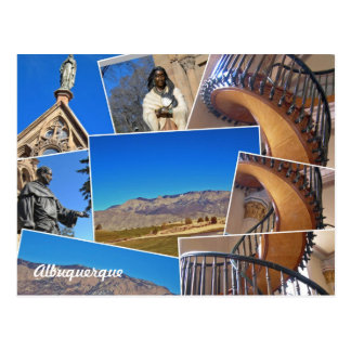 Albuquerque Santa Fe Collage, New Mexico Postcard
