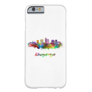 Albuquerque skyline in watercolor barely there iPhone 6 case
