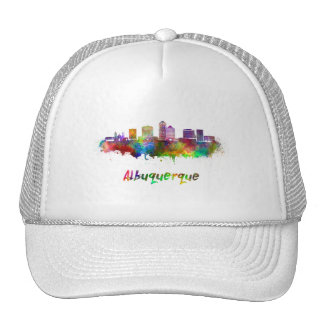 Albuquerque skyline in watercolor cap