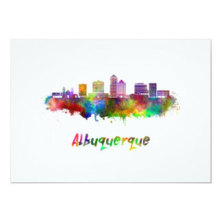 Albuquerque skyline in watercolor card