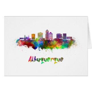 Albuquerque skyline in watercolor card