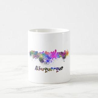 Albuquerque skyline in watercolor coffee mug