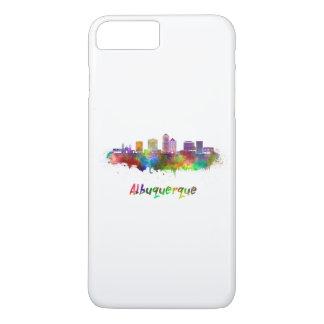 Albuquerque skyline in watercolor iPhone 8 plus/7 plus case