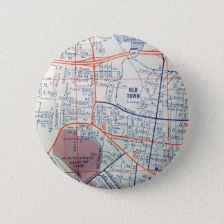 ALBUQUERQUE Vintage Map 6 Cm Round Badge