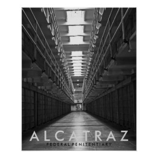 Alcatraz black & white poster