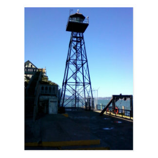 alcatraz guard tower postcard