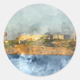 Alcatraz Island in San Francisco California Classic Round Sticker