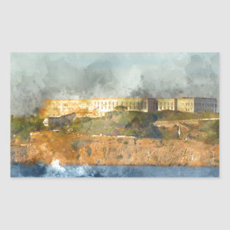 Alcatraz Island in San Francisco California Rectangular Sticker