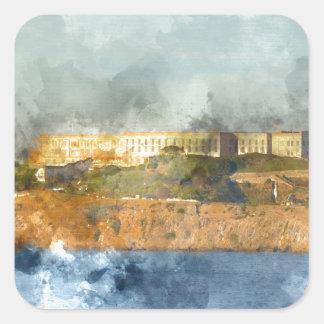 Alcatraz Island in San Francisco California Square Sticker