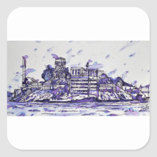 ALCATRAZ ISLAND SQUARE STICKER