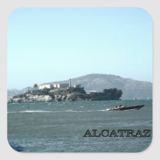 Alcatraz prison square sticker