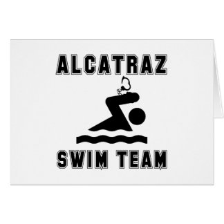 Alcatraz Swim Team Card