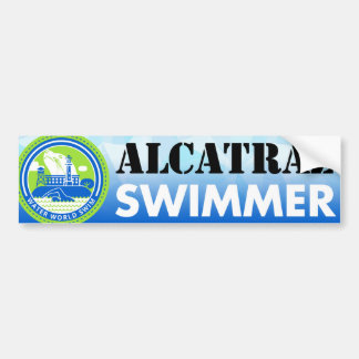 Alcatraz Swimmer bumper sticker