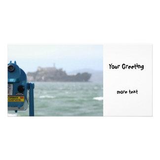 Alcatraz View Customized Photo Card