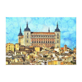 Alcazar Castle in Toledo. Canvas Print