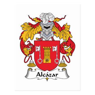 Alcazar Family Crest Postcard