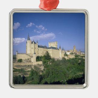 Alcazar, Segovia, Castile Leon, Spain 2 Silver-Colored Square Decoration