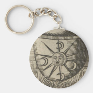 Alchemical Crescent Moons Key Ring