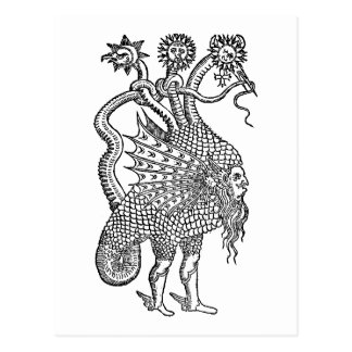 alchemical dragon postcard