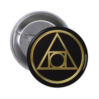 Alchemical symbol 6 cm round badge