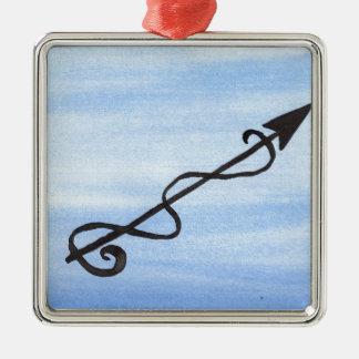 Alchemical Symbol: Purify Silver-Colored Square Decoration