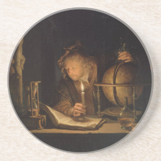 Alchemist Philosopher Reading Beverage Coaster