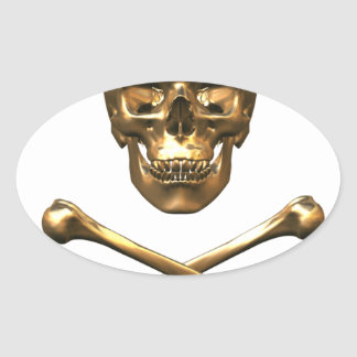 Alchemist's Skull and Bones Oval Sticker