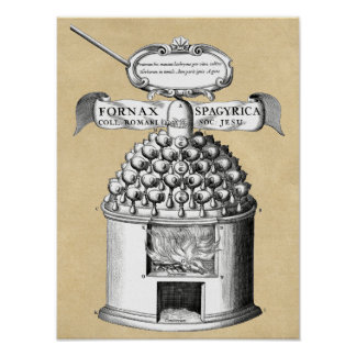 Alchemy Athanor Furnace Poster