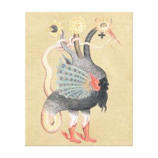 Alchemy Dragon Color Canvas Print