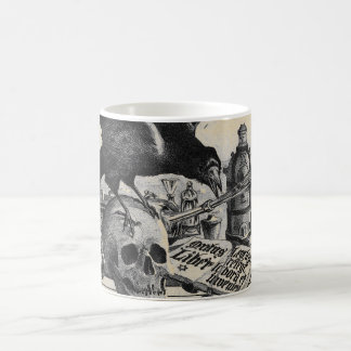 Alchemy Laboratory Raven and Human Skull Coffee Mug