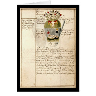 Alchemy Notebook By Johann Grasshoff 1620 Plate 8 Card