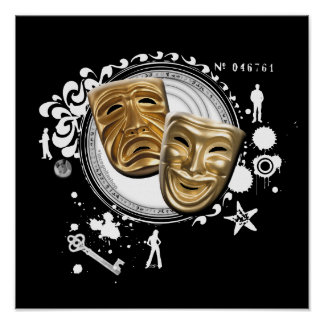 Alchemy of Acting Drama Masks Print