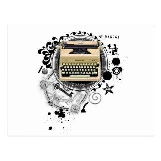 Alchemy of Writing Typewriter Postcard