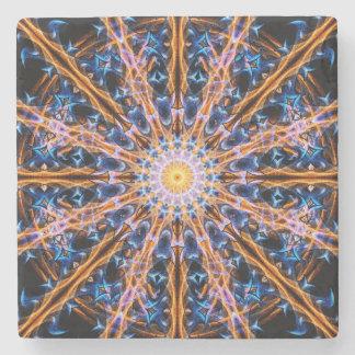 Alchemy Star mandala Stone Coaster