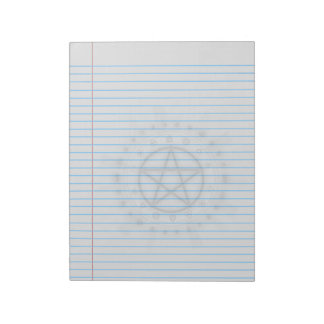 Alchemy Symbol Pentacle Wiccan Legal Notepad
