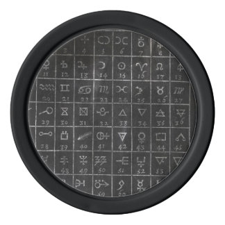 Alchemy Symbols Black Chalkboard Golf Ball Marker Poker Chips