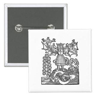 Alchemy - The Philosopher's Stone 15 Cm Square Badge