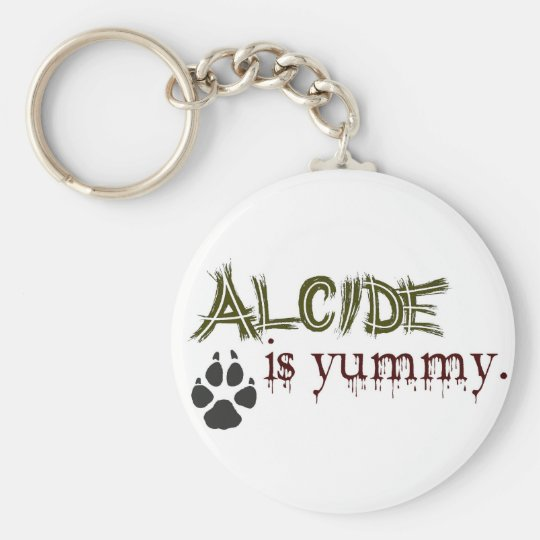 Alcide is Yummy. Basic Round Button Key Ring