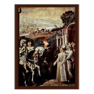 Alcina Receives Ruggero By Nicol㲠Dell'Abate Postcard