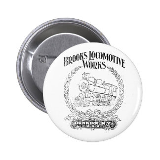 Alco - Brooks Locomotive Works Logo 1899 Button