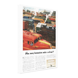 Alco Locomotives Make A Railroad Canvas Print