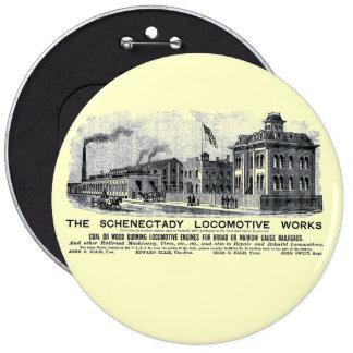 Alco-Schenectady Locomotive Works, 1870 6 Cm Round Badge