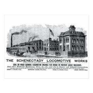 Alco-Schenectady Locomotive Works, 1870 Postcard