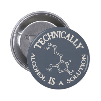 Alcohol, A Solution 6 Cm Round Badge