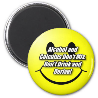 Alcohol and Calculus 6 Cm Round Magnet