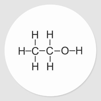Alcohol - Chemical Formula Round Stickers