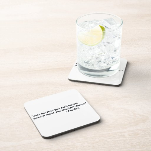 Alcohol Confidence Dancing Coasters