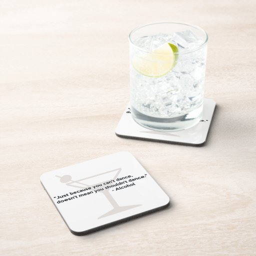 Alcohol Confidence Dancing Beverage Coaster